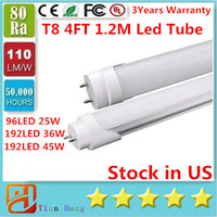 CE ROHS UL + 4ft 1. 2m 1200mm T8 Led Tube 25W 36W 45W Warm Na...