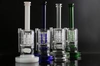 HEAVY Bongs en verre d'épaisseur 20mm base de l'appareil pétrolier deux Fonction pneu et perc 4 couleurs verre d'eau pipe-14