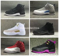 New Airlis Hot Sale Retro 12 Basketball Shoes OVO Gym Red Gr...