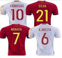 2017 Spain camisetas de futbol Euro Cup Spain Soccer Jersey ...