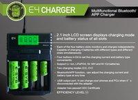 Genuino E4 Bluetooth Charger con Pantalla LCDD Cargador de batería inteligente para 18650/18350/14500/26650