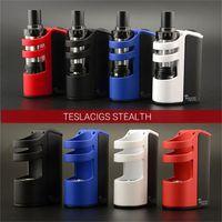 Оригинальный Тесла Stealth комплект 100w Teslacigs Stealth полный комплект с батареей 2200mAh LiPo teslacigs Тень Танк Higer Vapor Mod Kit