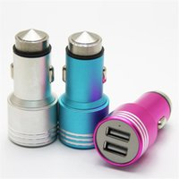 Safty Hammer Universal Metal Alloy Car Chargers Dual 2 Port ...