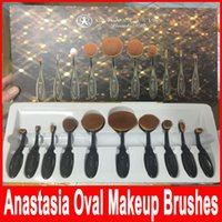 10 pcs Foundation Brush ANA Oval Makeup Toothbrush Brushes C...