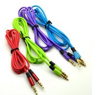 Prix d'usine!! Câbles audio AUX 3.5mm mâle à mâle Câble audio stéréo pour câble MP3 pour téléphone coloré