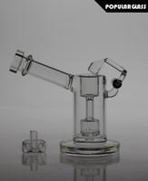 13.5cm Tall Bongs en verre mini bulleur en verre avec tube à fumée de verre à quartz oscillant AVEC CAPS FC-MINI V2