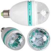 RGB bombilla LED a todo color de 3W proyector 220v Cristal Luz de la etapa de bola mágica E27 B22 de DJ Efecto de la danza del partido de disco llevó la bombilla de la lámpara de DHL