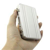 Мода Мини код алюминиевый корпус бизнес кредитной карты держатель Имя держателя карты алюминиевый корпус серебро подарка 50pcs FRE перевозку груза
