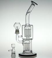Le plus nouveau bong tube d'eau de verre barbe de verre plate-forme pétrolière avec dôme en verre et bol avec joint de 14,4 mm