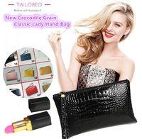 New alta qualidade mulheres PU materiais Totes crocodilo grão bolsas clássicas malas de mão bolsa de rua meninas presentes de moda sacos 4268