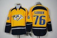 Нэшвилл # 76 PK Subban Желтые хоккей Джерси Новый сезон Хоккей Wear Высокое качество Мужские хоккейные рубашки сшиты имя и номер