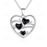 2016 Printemps Été Hollow collier en forme de coeur romantique Love 925 pendentifs d'argent colliers chaude nouvelle marque bijoux chaîne de mode