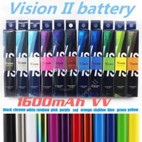 Vision de qualité supérieure Spinner 2 1650mAh Ego torsion 3.3-4.8V vison spinner II batterie de tension variable pour cigarette électronique ego atomiseur DHL