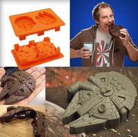 Новые прибытия Творческий Силиконовые Star Wars Дарт Вейдер Ice Cube Tray Mold Печенье Шоколад Мыло Выпечка Кухня инструмент