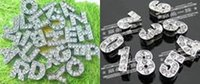 Buyer Order - clear rhinestones slide letters S F each 50pcs...