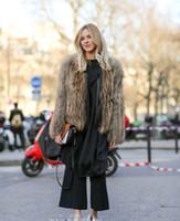 2016 Winter Women Plus Size Fashion Faux Fur Leather Stripe ...