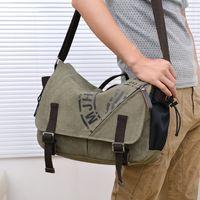 Men' s Vintage Canvas Messenger Shoulder Bag Crossbody S...