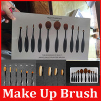 hot 10 Pcs New Professional Soft Oval Toothbrush Makeup Brus...