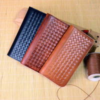 KISSUN- SZB- 007 Pure Handmade Veg Tanned Leather Woven Clutch...