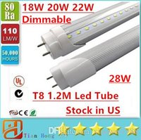 Stock in US Dimmable 4ft 1200mm T8 Led Tube Light High Super...