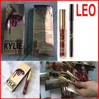 Kylie Jenner Lip Kit Lord Metal LEO Gold lipstick liner THE ...