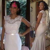 2016 Cheap Sexy Lace Floor Length Bridesmaid Dresses Black G...