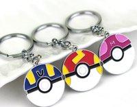 Pocket Monster Poke ball Keychains Cute Cartoon Flexible Glu...