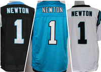 2016 Panthers #1 Cam Newton Blue White Black Elite Football ...