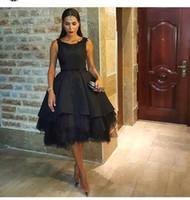 Knee Length Little Black Cocktail Dresses 2016 Sleeveless Je...