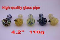 verre lourd Pipes plusieurs couleurs tuyau de cuillère à la main de tabac à pipe 4.2