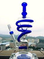 HBKING fabricant ELZM-1 nid d'abeilles en spirale perc en ligne recycleur enjoylifeworld verre borosilicate d'épaisseur 5mm, HB KING tuyau d'eau en verre