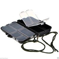 Малый Рыбалка Box Инструмент снасти Приманка Ложка Крюки Аксессуары для корпусов 9 отсек для хранения