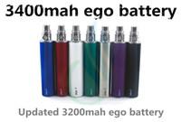Batterie d'ego t de qualité supérieure 3400mah capacité énorme 3400 mAh avant 1300mah 2200 EVOD spider batterie vision spin e cig cigarette vapor mods DHL
