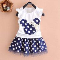 2016 new t shirt + Skirt baby kids suits 2 pcs fashion girls ...