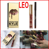 Kylie Jenner Lip Kit liner Lord Metal LEO Gold lipstick pack...