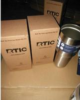 RTIC 20 Oz Gobelet en acier inoxydable RTIC 20oz Tumbler rambler Camo 304 Gobelet en acier inoxydable avec couvercle 25pcs DHL free