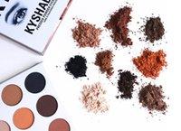 Горячая продажа! В продаже акций горячий новый Kylie Kyshadow нажимается порошка тени глаза палитры Бронзовый палитра Kyshadow Kit Кайли Cosmetic 9 цветов