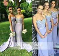 2016 Elegant Lilac Long Bridesmaid Dress Mermaid Sweetheart ...