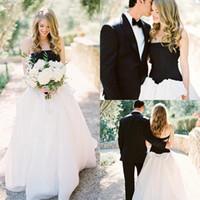 Elegant Wedding dresses Strapless Black & white Amazing Beau...