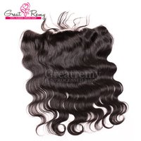 13*2 Virgin Brazilian Body Wave Lace Frontal Closure Hairpie...
