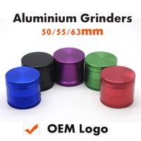 Алюминиевый CNC Grindes 4 Pieces Измельчители травы металла Grinder 50мм 55мм 63мм Layered металла Зуб Grinder От Sharpstone OEM имеющийся логос
