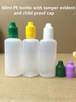 60ml PE Bottle E Liquid Bottle Plastic Dropper Bottle With T...