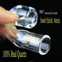4mm banger de club épais CLAIRE QUAVE BANGERS QCB quartz clous 14mm 18mm, femelle mâle 100% Quartz réel Livraison gratuite!