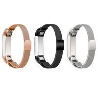 Date Pour Fitbit Alta Magnetic Milanese boucle Bracelet bande de métal du bracelet montre en acier inoxydable poignet Bracelet accessoires colorés