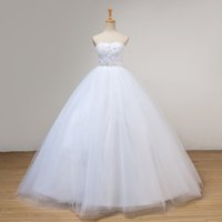 Beaded Soft Tulle Ball Gown Wedding Dress With Lace Applique...