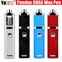 Original Yocan Pandon QUAD Wax Pen Starter Kits 1300mAh batterie QDC Bobines vs E-cigarette Evolve Evolve-D plus Ecigarettes Vape Starter Kits