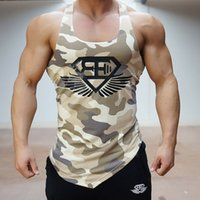 Fitness Men Gym Tank Top Army Camo Camouflage Mens Bodybuild...