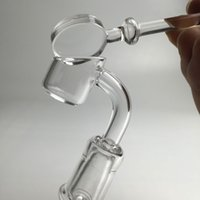 banger carb casquette avec 10mm 14mm 18mm banger mâle quartz épaisse femelle de 45 degrés à 90 degrés et un seau bouchon de carb de quartz clair