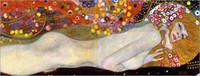 Подлинная расписанную Густав Климт Арт картина маслом на холсте высоких качества, Leinwandbild Wasserschlangen II в нестандартный размер выбран