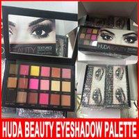Wholesale HUDA Beauty 18 colors Shimmer Matte Eyeshadow Pale...